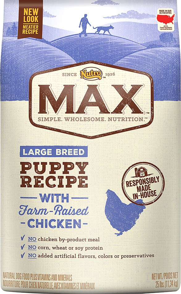 Nutro Max Large Breed Puppy Natural Chicken Meal  Rice Recipe Dry