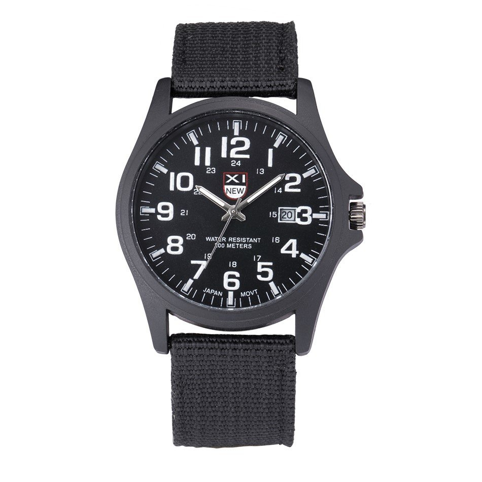 Online Analog Clock Xinew Casual Nylon Strap Calendar Analog Clock Quartz Watch Round Dial Military Men S Watches