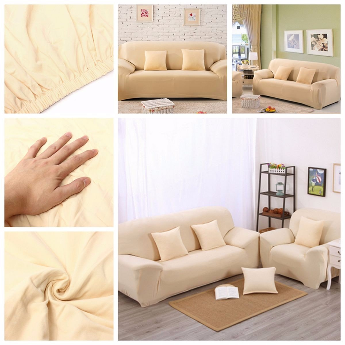 Sectional Corner Couch Three Seat Stretch Elastic Sofa Slipcover Pet Dog Sectional Corner Sofa Covers Furniture Protector