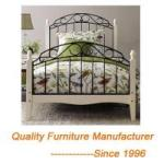 romantic_double_bed_frame_in_white_with_wooden_legs  %Image Name