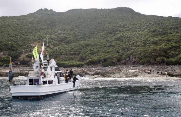 This group of right-wingers are sailing to the Diaoyu Islands on 21 rented boats.