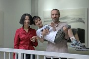 Intercultural couple A-Qing from Guangxi, China and Jiri from the Czech Republic, along with their son.