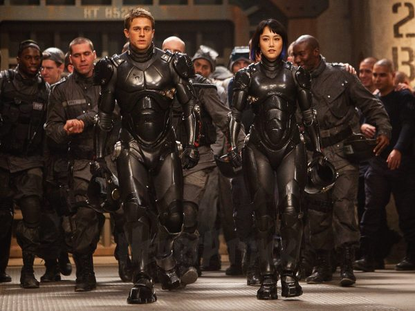 Raleigh and Mako, in Pacific Rim.