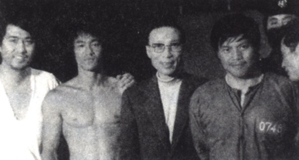 Sir Run Run Shaw and Bruce Lee.