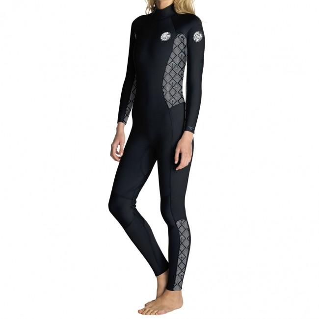 Rip Curl Women\u0027s Dawn Patrol 4/3 Back Zip Wetsuit - Cleanline Surf