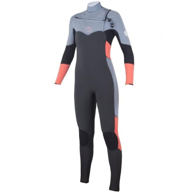 Rip Curl Women\u0027s Flash Bomb 4/3 Chest Zip Wetsuit - 2016 - Cleanline