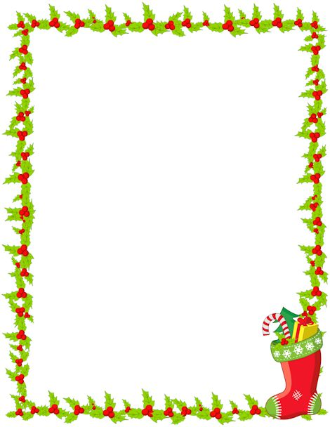 83+ Free Holiday Clipart Borders ClipartLook
