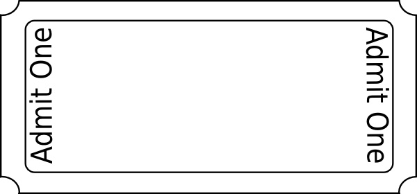 85+ Ticket Clip Art ClipartLook - meal ticket template
