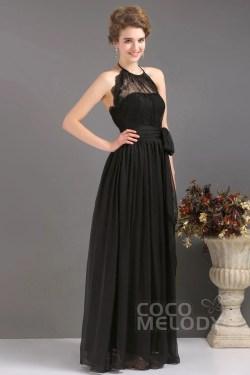 Peachy Halter Length Chiffon Black Evening Halter Length Chiffon Dress Draped Black Evening Dresses Weddings Black Evening Dresses Online