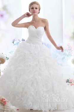 Calmly Sparkle Ball Gown Sweeart Cadral Train Ruffled Organza Wedding Ball Gown Sweeart Cadral Train Organza Wedding Organza Bridal Dress Mori Lee Organza Bridal Gown