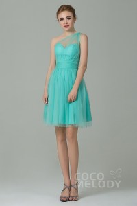A-Line Short-Mini Tulle Bridesmaid Dress LOZM1503F ...