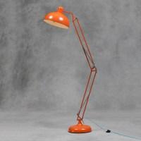 Large Retro Orange Floor Lamp Vintage Angle-poise Style ...