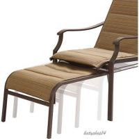 Patio Chair Pull Out Ottoman Padded Sling Chair Reclining ...