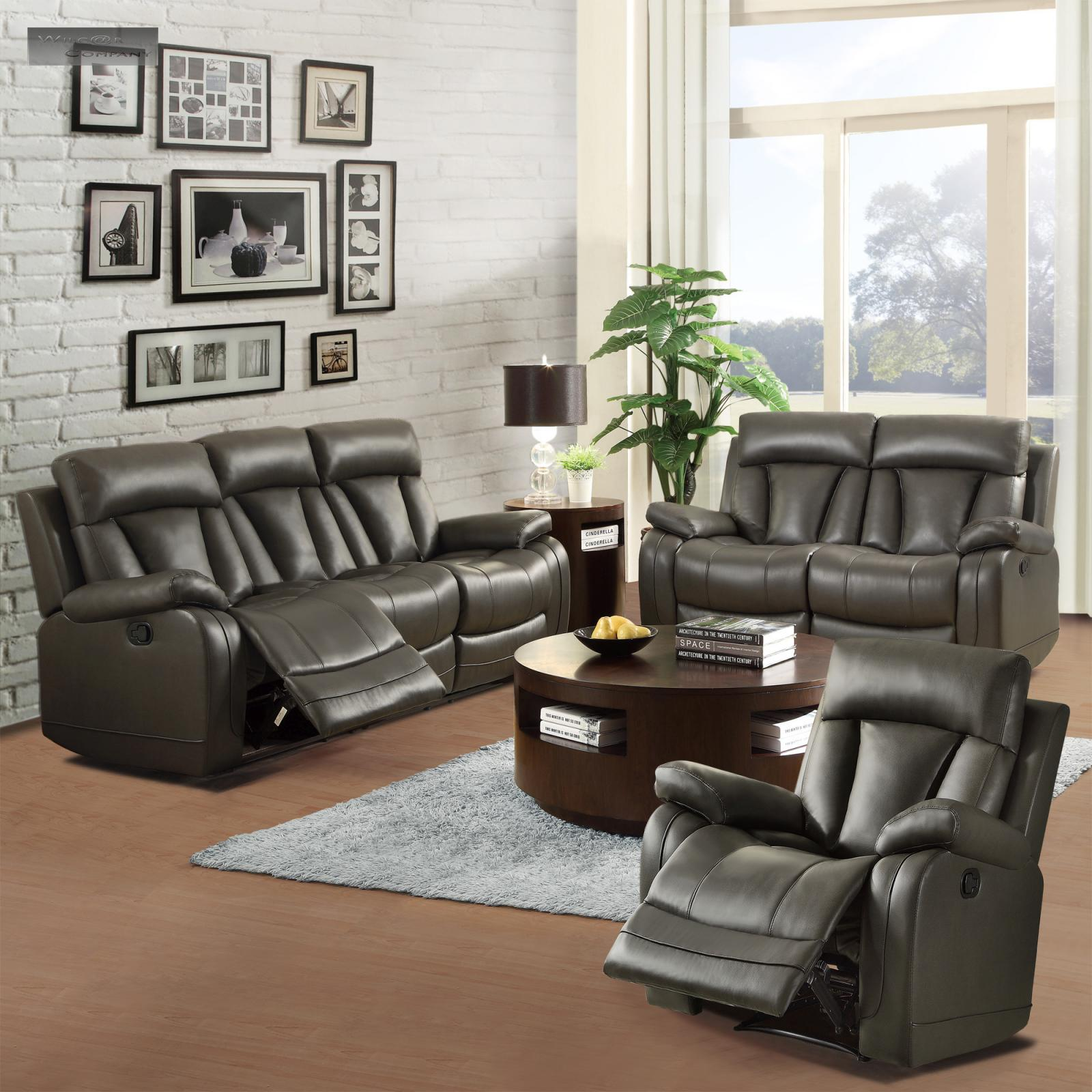New Black Leather Recliner Lazy Chair Furniture Living