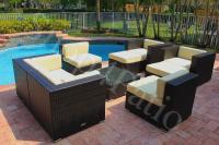 Patio Furniture 9 piece Modern Garden Wicker Modular Sofa ...