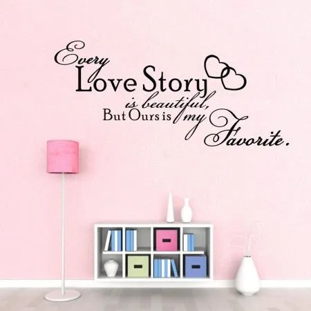 Animal Print Wallpaper For Bedrooms Our Love Story Is My Favourite Wall Stickers Diy Removable