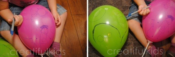 drawing with kids on balloons 2