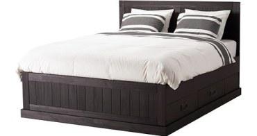 [居家] IKEA黑色實木床架 收納空間無敵大