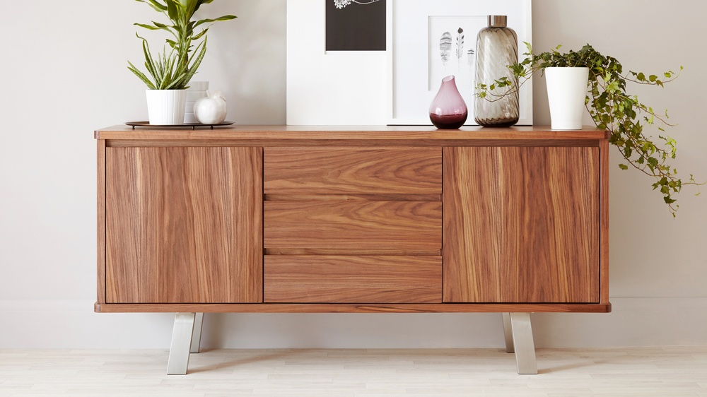 Nussbaum Sideboard Modern Walnut Sideboard| Walnut Veneer | Uk Deliverery