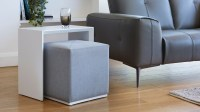 Modern Multipurpose Side Table Set Dark Grey | UK Delivery