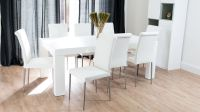 Modern White Oak Dining Table | Chunky Oak Dining Table