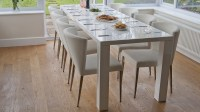 Modern White Hi Gloss Extending Dining Set | Seats up to ...