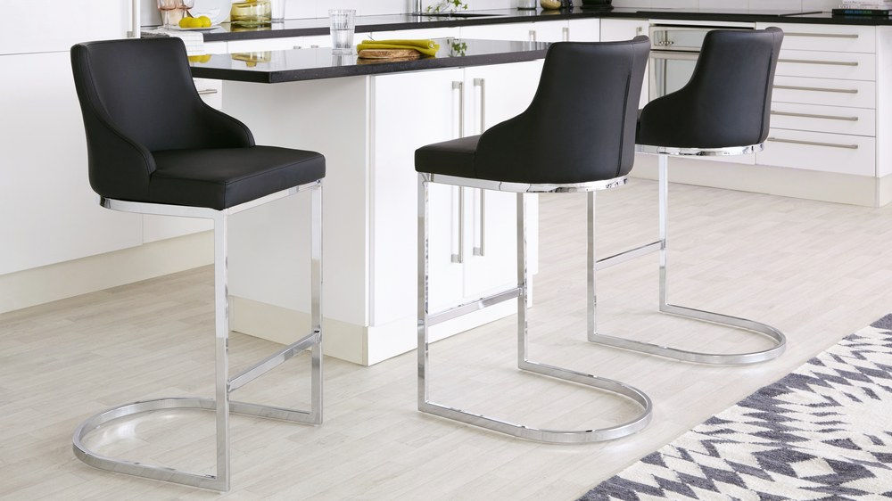 Home Goods Bar Stools Chrome Bar Stool With Backrest | Danetti Uk