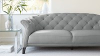 Gray Leather Chesterfield Sofa Chesterfield Rustic Grey ...