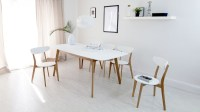 White & Oak Kitchen Chairs