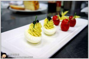 [西餐]點心類  魚子鑲蛋&鮪魚蕃茄盅