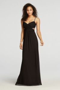 Beaded Spaghetti Strap Cut Out Prom Dress - Davids Bridal