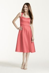 Davids-Bridal-Satin-Wide-Strap-Tea-Length-Dress-Style-F14556