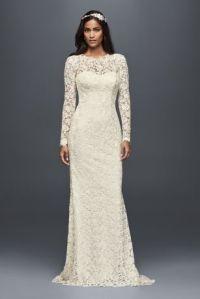White by Vera Wang Long Sleeve Lace Wedding Dress | David ...