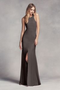 Dark Grey Charcoal Bridesmaid Dresses