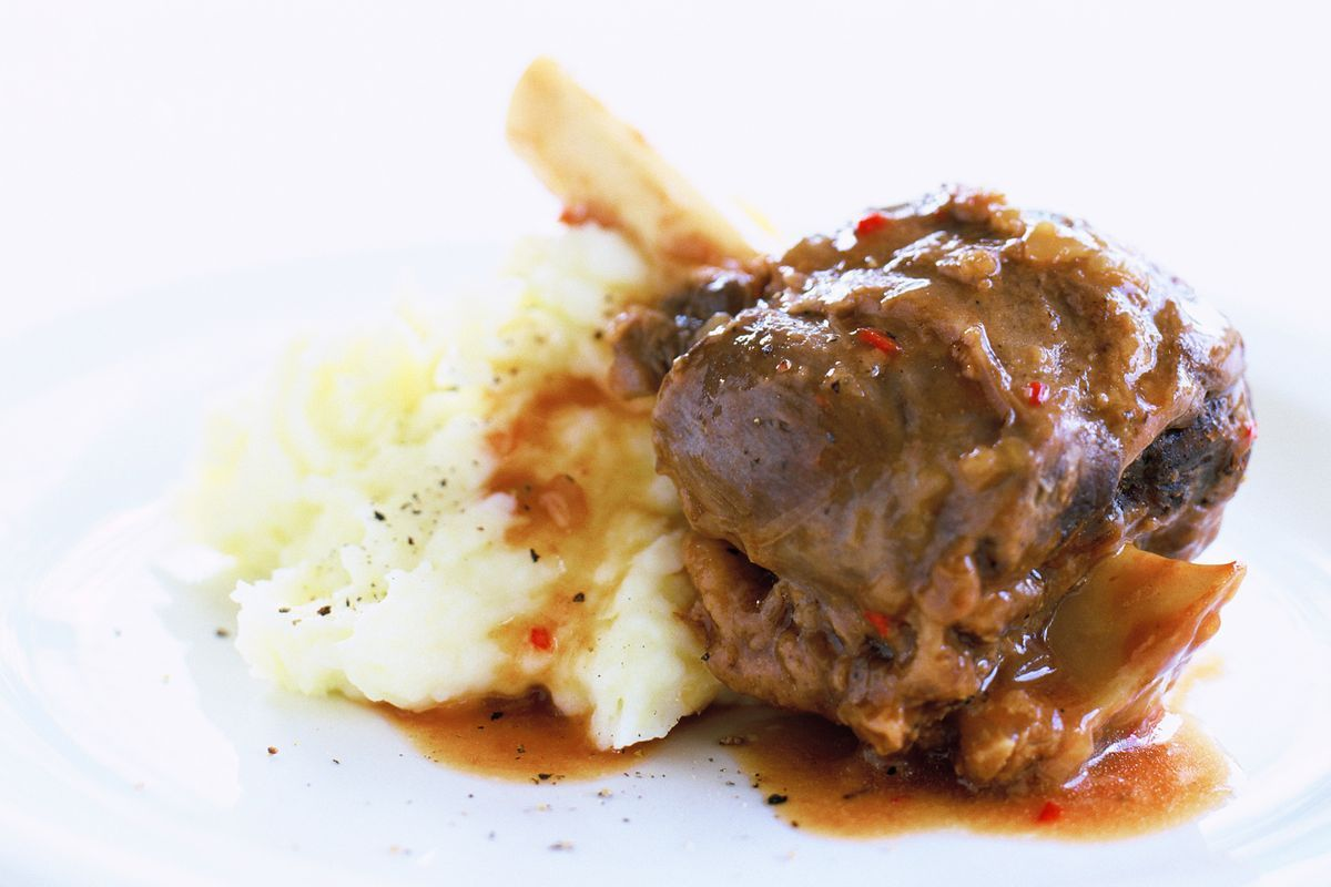 Healthy Meal Prep Lamb Shanks With Wasabi Mash - Recipes - Delicious.com.au