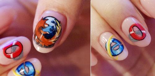 23 Creative Or Crazy Nail Art Design Swan