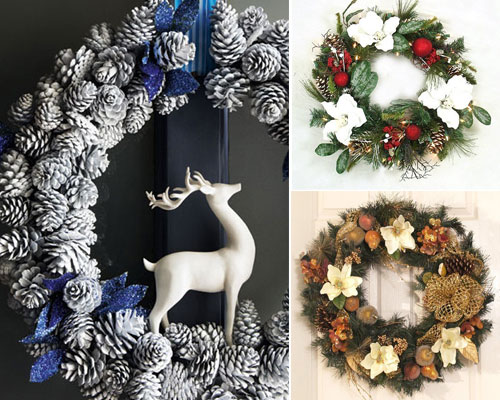 20 Beautiful Christmas Wreath Decorating Ideas u2013 Design Swan - christmas wreath decorations