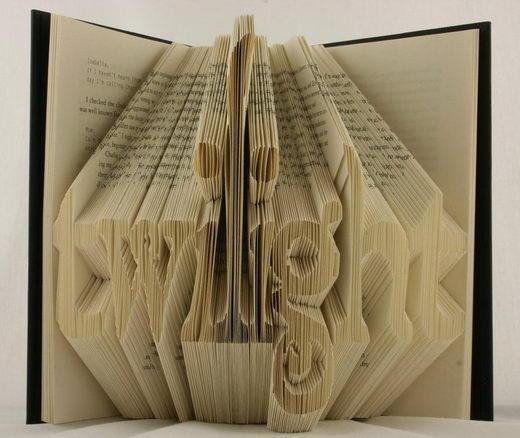 3d Curved Wallpaper Creative Book Folding Art From Isaac Salazar Design Swan