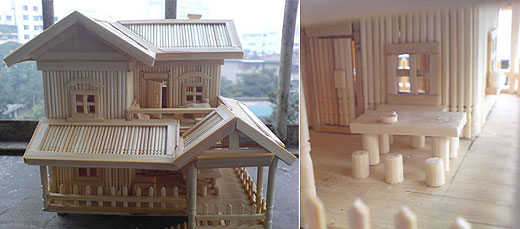 Crazy Cute Wallpapers Amazing Architecture Made Of Toothpicks Design Swan