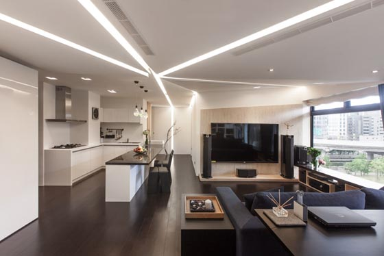 Lamparas Focos Modern Apartment With Unusual Lighting Setup In Taiwan