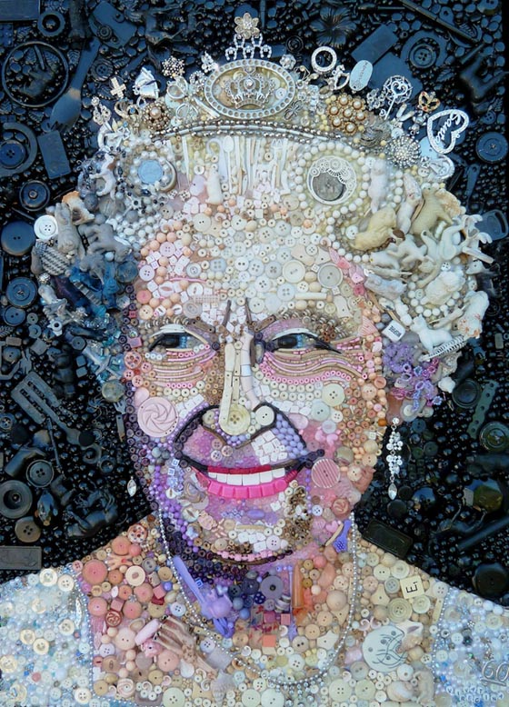 Tableau Art Moderne Stunning Portraits Made Of Hundreds Of Found Objects By