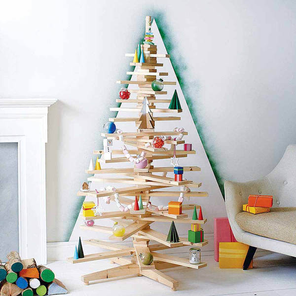 Get Yourself an Unconventional Christmas Tree for the Upcoming - contemporary christmas decorationshallmark christmas decorations