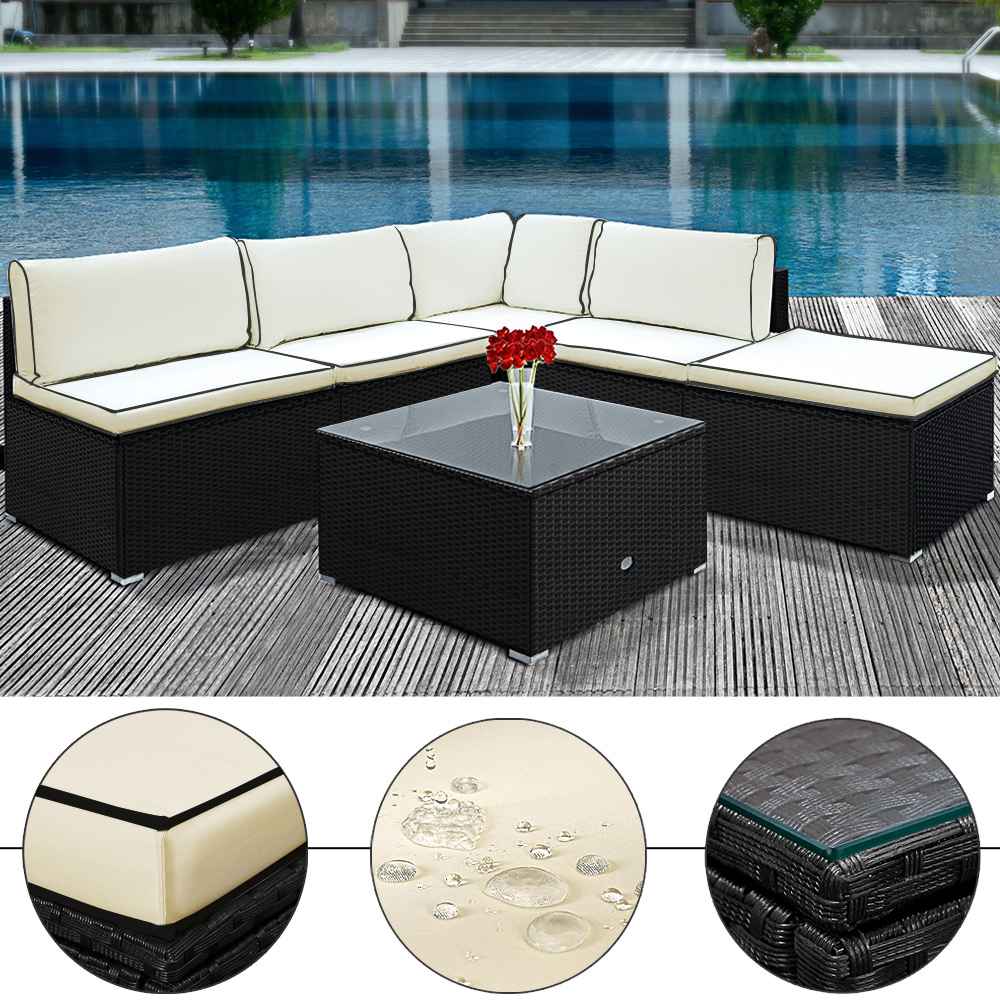 Rattanmöbel 24 Details Zu Pe Rattan Corner Sofa Garden Lounge Outdoor Furniture Patio Table Wicker Set