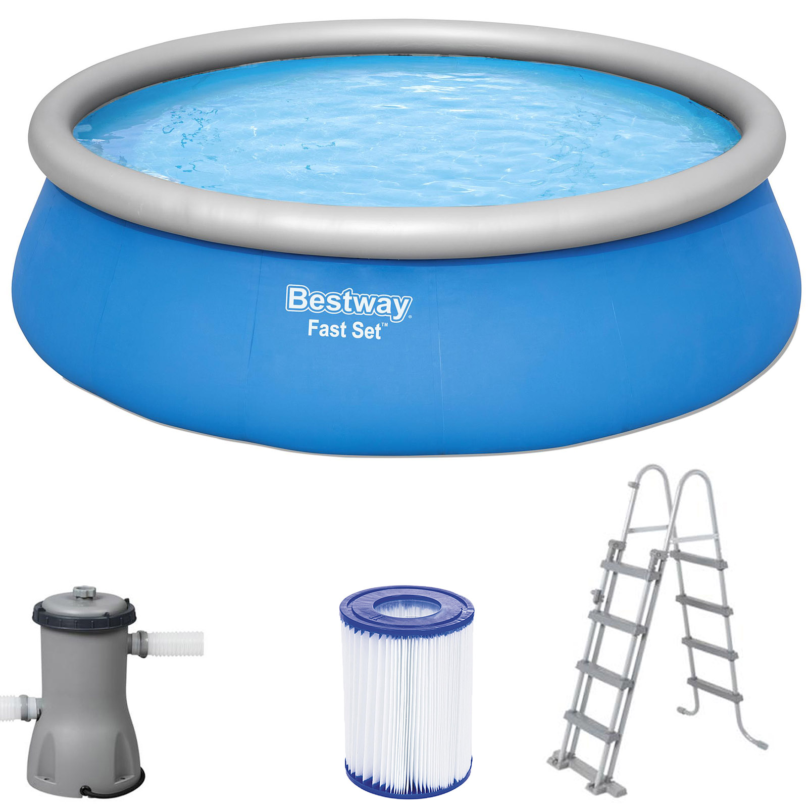 Pool Komplettset Bestway Bestway Pool Komplettset Schwimmbecken Swimming Pool