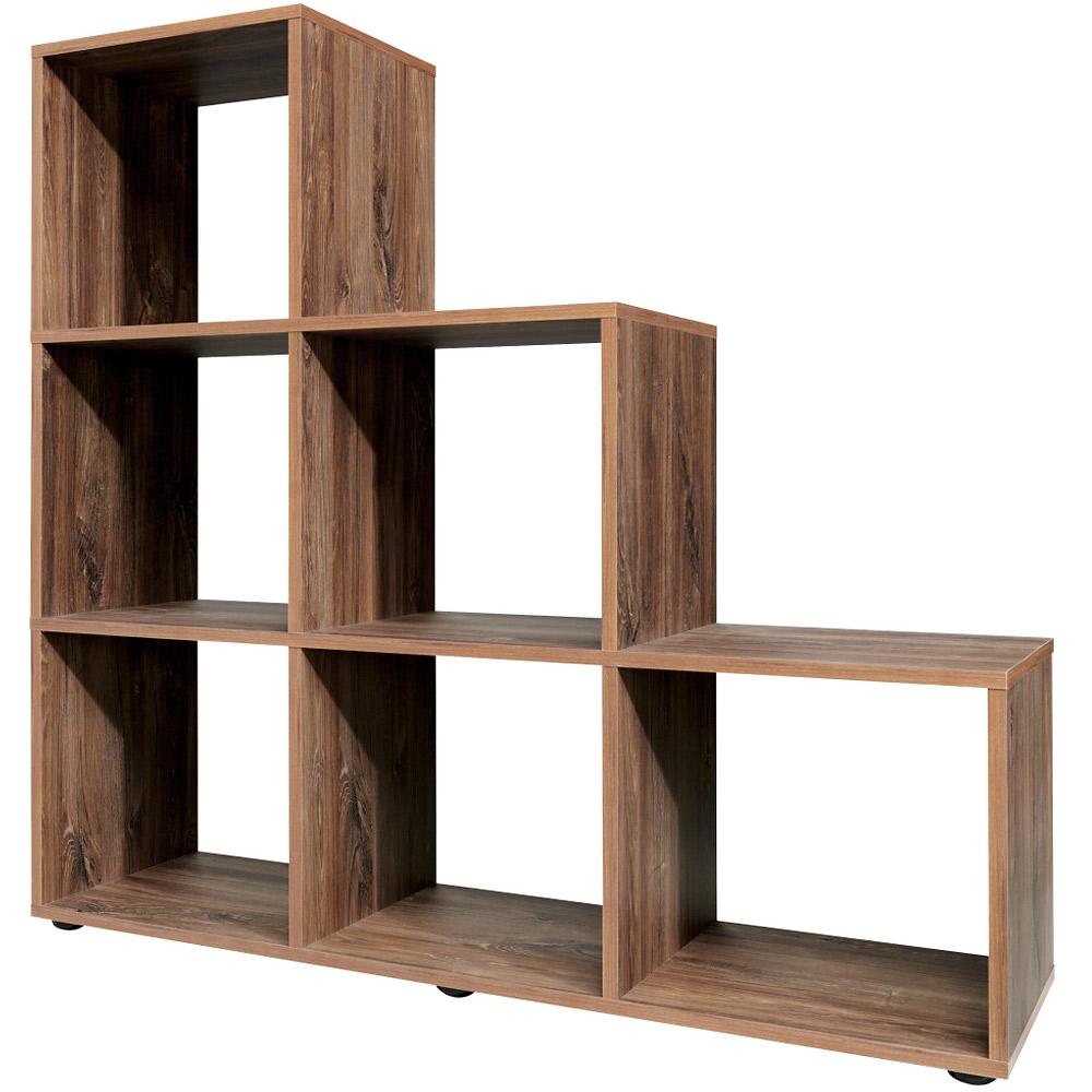 White Bookcase Shelf Tall Wood Effect Shelves Bookshelf