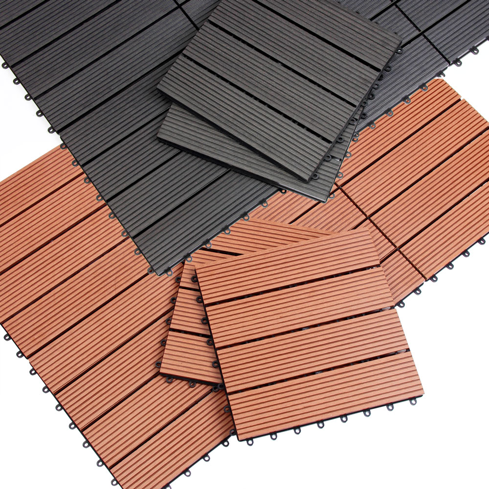 Wpc Fliesen Online Shop Details About Wpc Decking Tiles Patio Terrace Wood Plastic Composite Interlocking Weatherproof