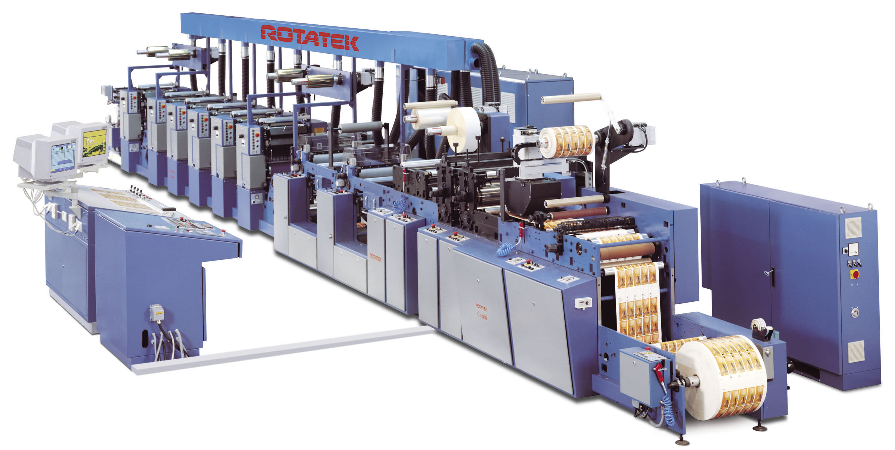 Web Offset Printing Machine Web Fed Offset Press Small Format 150 M Min Combi Shaftless
