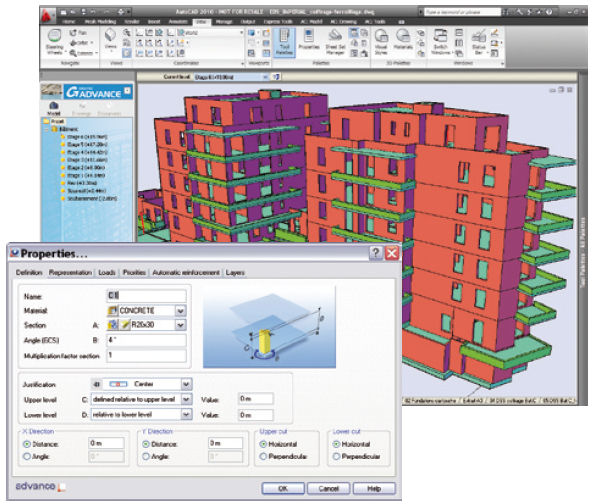 Creation software / structural calculation / concrete structure