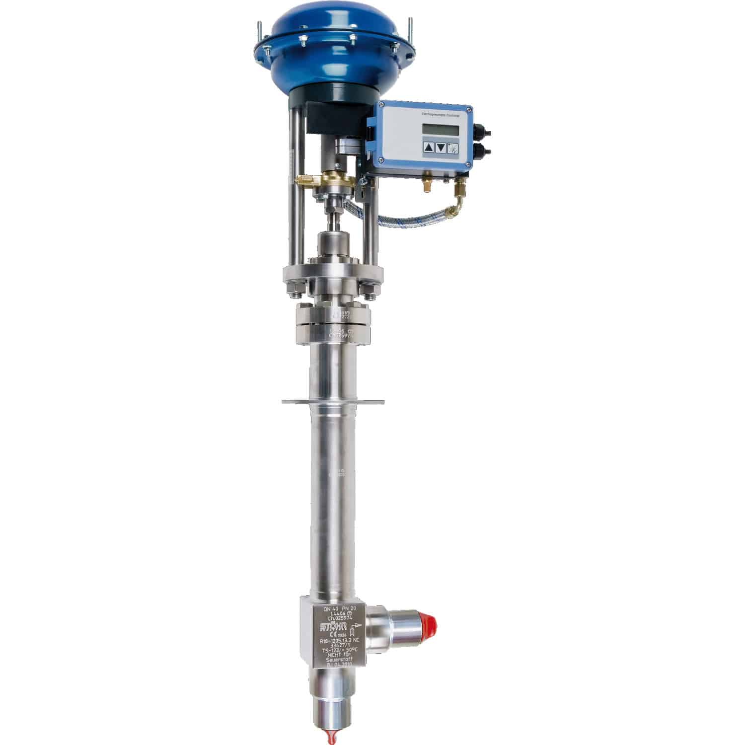 Take Armaturen Globe Valve Manual Pneumatically Operated Stainless Steel