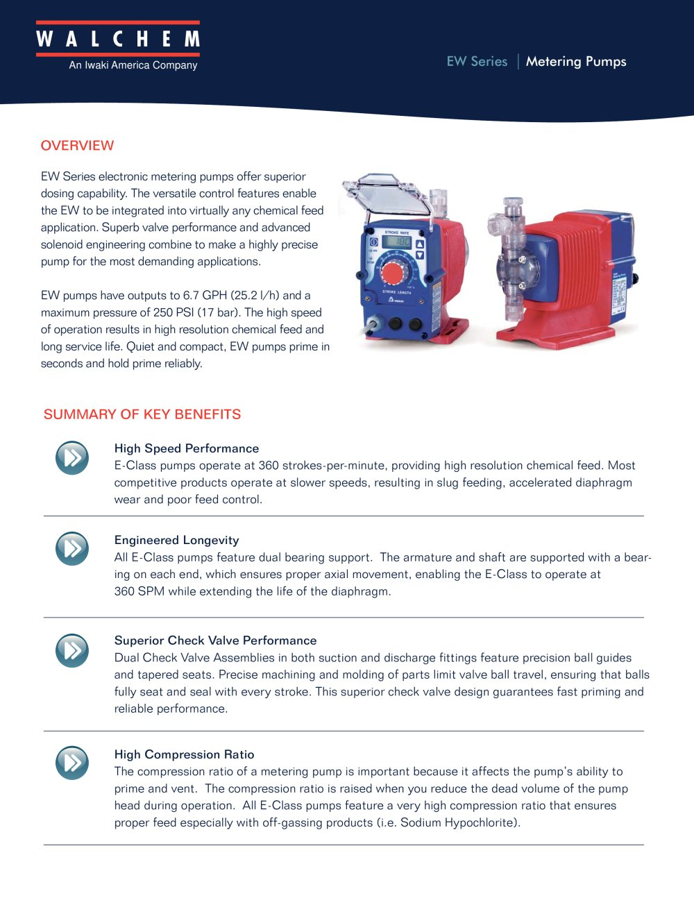 Ew Series Ew Series Metering Pumps Walchem Pdf Catalogue Technical